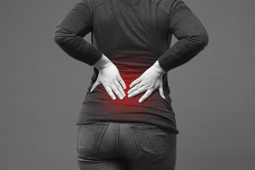 Location of Lower Back Pain in Most People